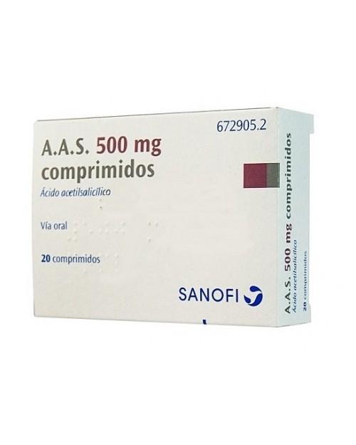 AAS 500mg 20Comprimidos