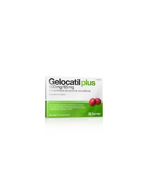 Gelocatil Plus 500/65mg 20 Comprimidos