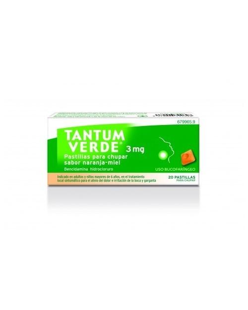 tantum verde (3 mg 20 pastillas para chupar limon )