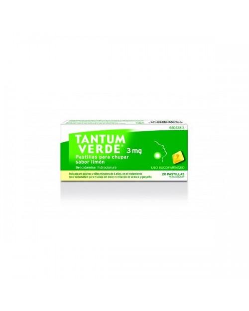 tantum verde (3 mg 20 pastillas para chupar menta )
