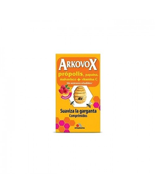 Arkovox própolis + vitamina C sabor frambuesa 24comp