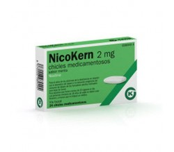 NICOKERN (2 MG 24 CHICLES SABOR MENTA )