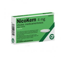 NICOKERN (4 MG 24 CHICLES SABOR MENTA )